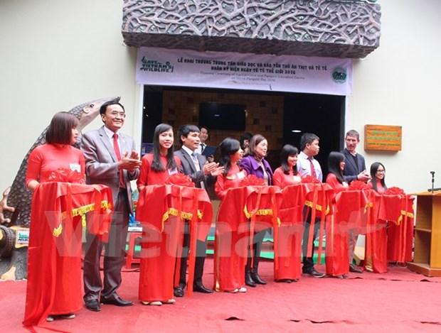 Inauguran primer centro de educacion y conservacion de carnivoros y pangolines hinh anh 1