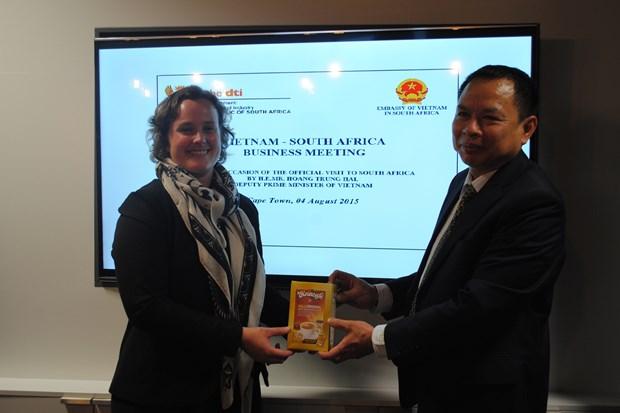 Vietnam y Sudafrica por duplicar el valor del comercio bilateral hinh anh 1