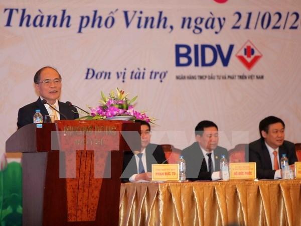 Presidente parlamentario llama a empresas a ampliar negocios hinh anh 1