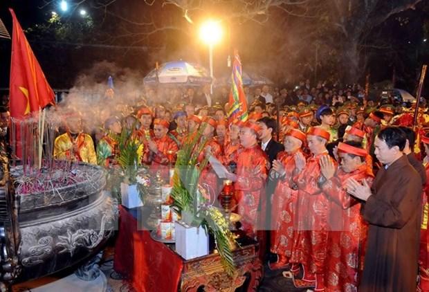 Fiestas ceremoniales en honor de dinastia Tran hinh anh 1