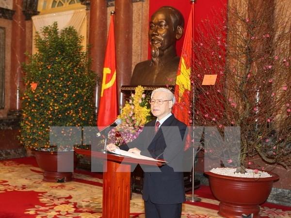 Partidos y amigos de otros paises felicitan al reelecto lider partidista de Vietnam hinh anh 1