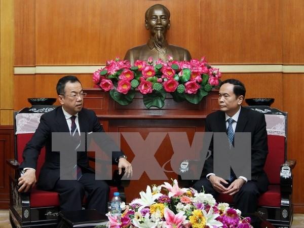 Vicepresidente del FPV recibe a dirigente de organizacion religiosa hinh anh 1