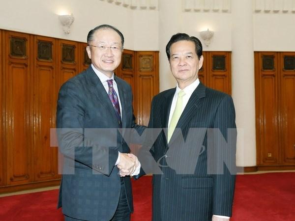 Premier vietnamita recibe en Hanoi a presidente de BM hinh anh 1