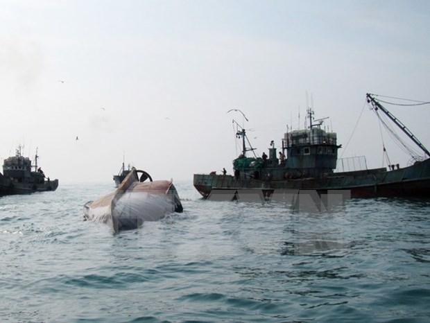 Indonesia hunde otros barcos extranjeros que faenan ilegalmente hinh anh 1