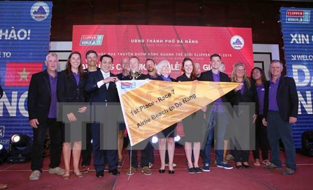 Concluyen septima etapa de Clipper Race con entrega de galardones en Da Nang hinh anh 1