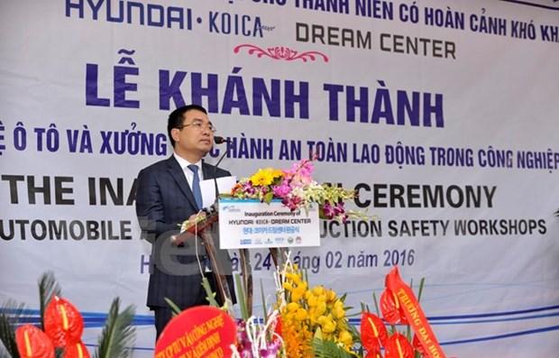 Inauguran en Hanoi centro de formacion profesional con apoyo sudcoreano hinh anh 1
