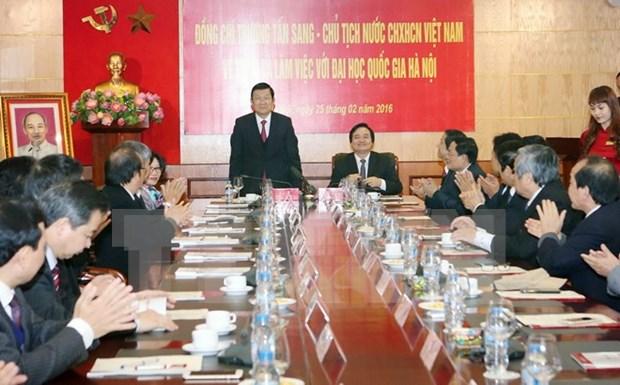 Presidente urge mayor contribucion de la Universidad Nacional de Hanoi hinh anh 1