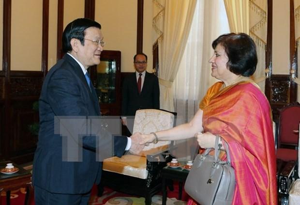 Comprometido Vietnam a facilitar inversiones de India en el pais hinh anh 1