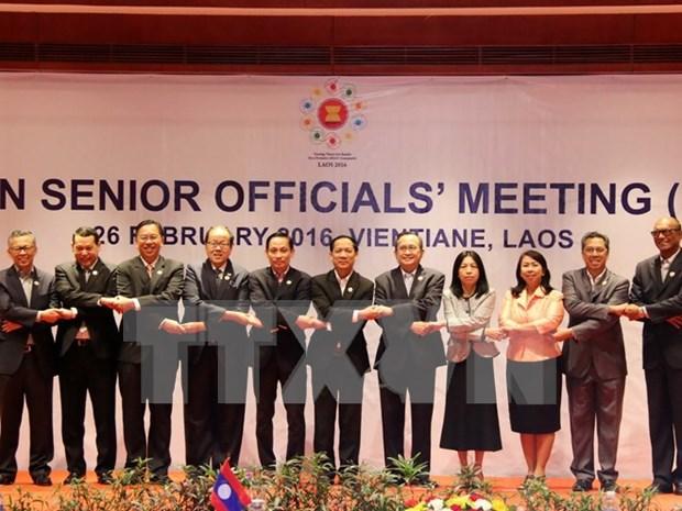 En Laos Reunion de altos funcionarios de ASEAN hinh anh 1