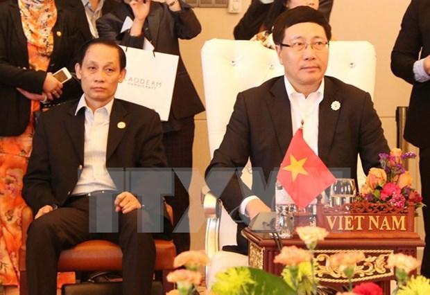 Inauguran en Laos Reunion de Cancilleres de ASEAN hinh anh 1