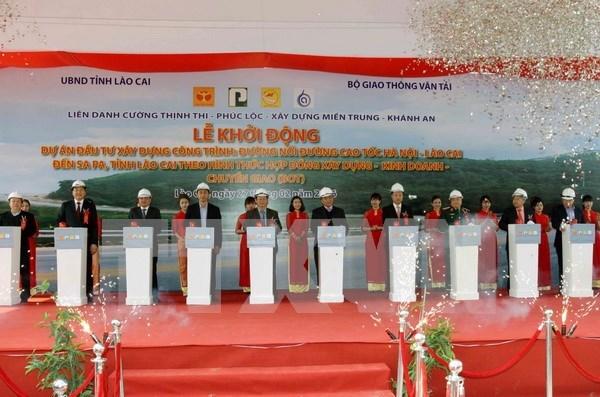 Inician proyecto de transporte que conecta carretera Noi Bai – Lao Cai con Sapa hinh anh 1