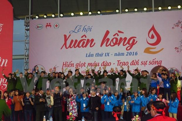 Comienza festival anual de donacion voluntaria de sangre en Hanoi hinh anh 1