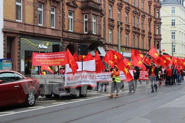Vietnamitas en Alemania refutan acciones ilegales de China en Mar del Este hinh anh 2