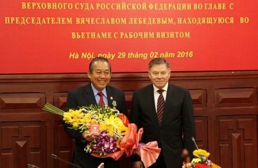 Intensifican cooperacion Vietnam-Rusia en justicia hinh anh 1