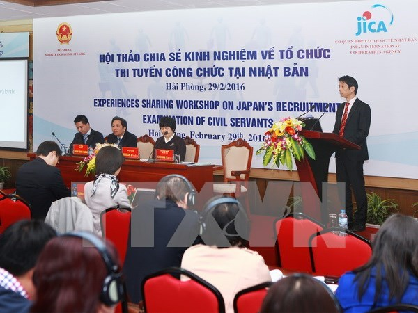 Vietnam y Japon comparten experiencias en examen de contratacion de funcionarios hinh anh 1