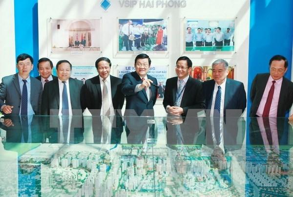 Presidente realiza visita de trabajo a Hai Phong hinh anh 1