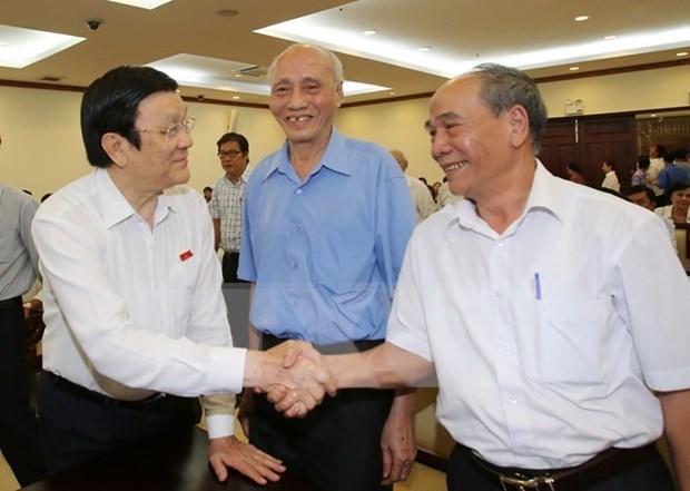Presidente de Vietnam mantiene contacto con electores en Ciudad Ho Chi Minh hinh anh 1