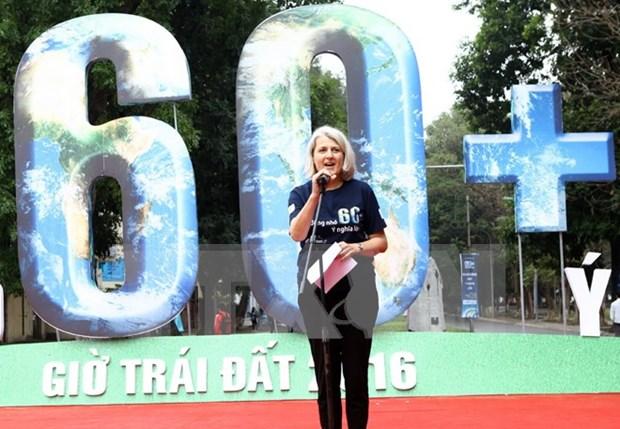 "Responde Vietnam a la campana mundial ""Hora del Planeta"" 2016 hinh anh 1"