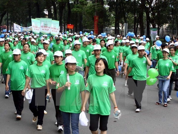 Marchan por Dia internacional de la Mujer en Ciudad Ho Chi Minh hinh anh 1