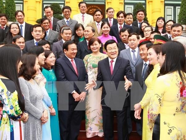 Presidente saluda logros de Cu Chi en construccion de nueva zona rural hinh anh 1
