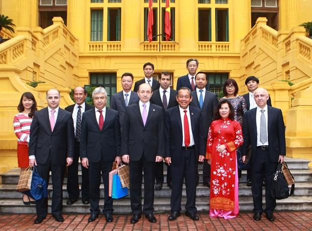 Afianzan Vietnam y Azerbaiyan cooperacion judicial hinh anh 1