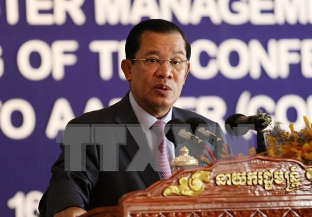 Primer ministro camboyano inicia visita a Laos hinh anh 1