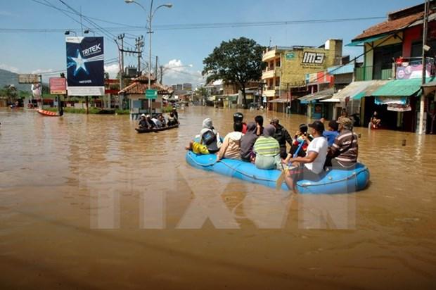 Inundaciones dejan dos muertos y tres desaparecidos en Indonesia hinh anh 1