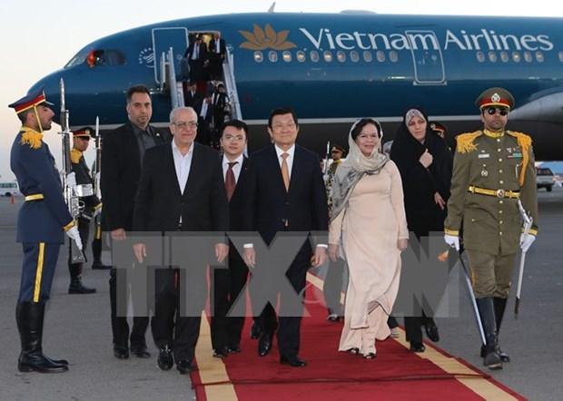 Presidente vietnamita inicia visita a Iran hinh anh 1