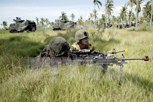 Indonesia y Estados Unidos preparan plan para ejercicio conjunto en 2016 hinh anh 1
