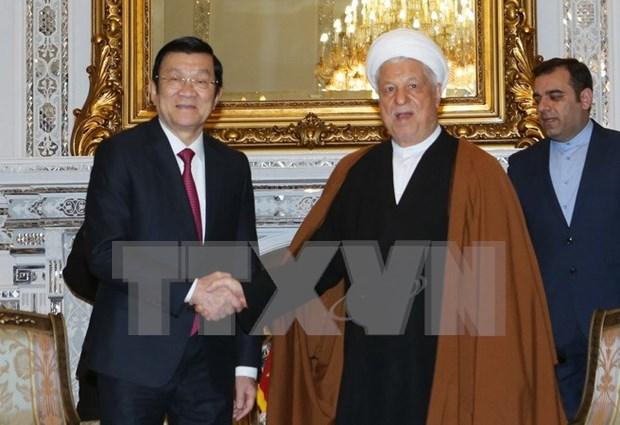 Presidente vietnamita sostuvo encuentros con dirigentes iranies hinh anh 1