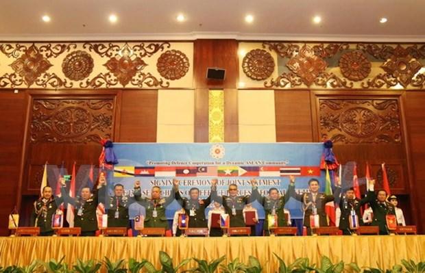 Jefes de las fuerzas armadas de ASEAN reiteran necesidad de ambiente de paz hinh anh 1