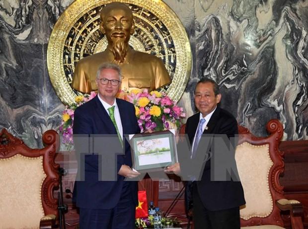 Recibe presidente del Tribunal Supremo Popular al ministro hungaro de Justicia hinh anh 1