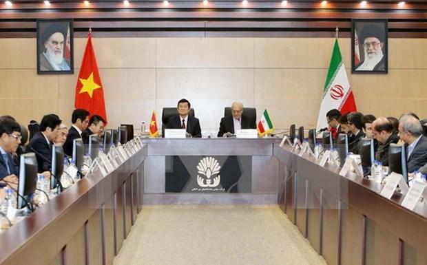 Presidente de Vietnam se reune con lider supremo de Iran hinh anh 1