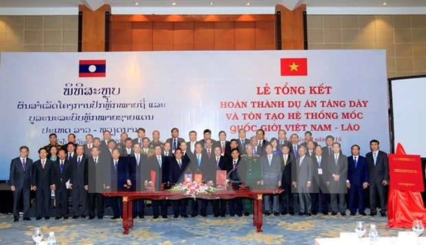 Proyecto de densificacion de hitos fronterizos: muestra de amistad Vietnam- Laos hinh anh 1