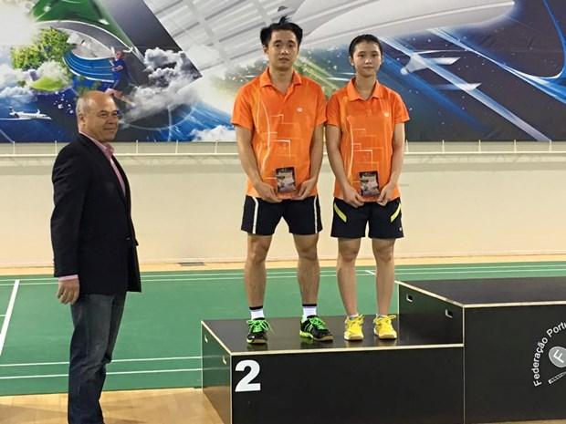 Obtiene Vietnam dos medallas en Abierto de badminton en Portugal hinh anh 1