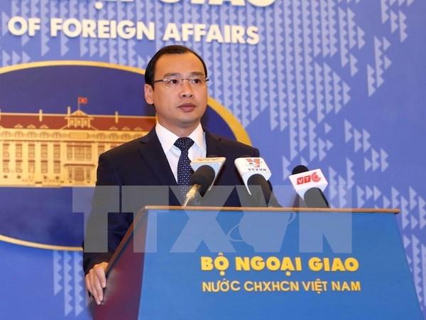 Acciones chinas en Hoang Sa infringen soberania de Vietnam, dijo vocero de Canciller hinh anh 1