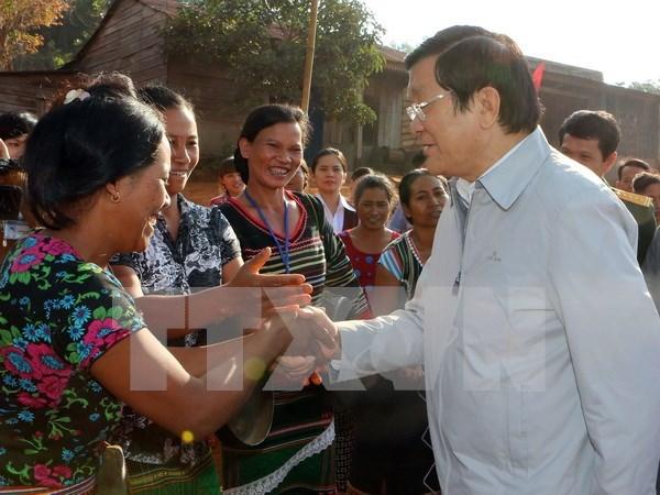 Presidente vietnamita enfatiza uso de recursos naturales en provincia altiplana hinh anh 1