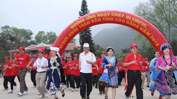 Carrera del Dia Olimpico se corre en la isla vietnamita de Ly Son hinh anh 1