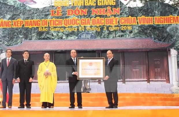 Pagoda Vinh Nghiem reconocida como patrimonio nacional especial de Vietnam hinh anh 1