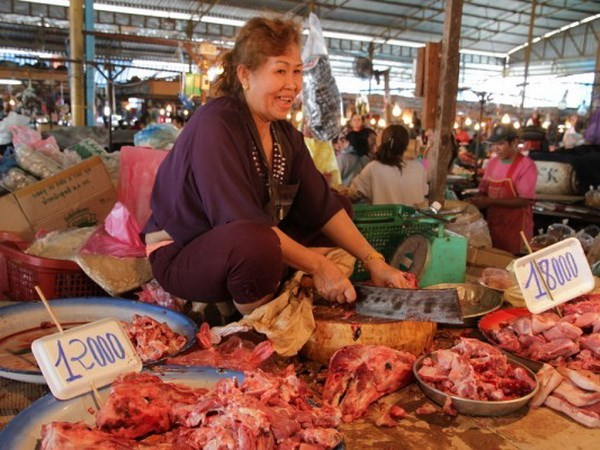 Laos prohibe importacion de carne de cerdo hinh anh 1