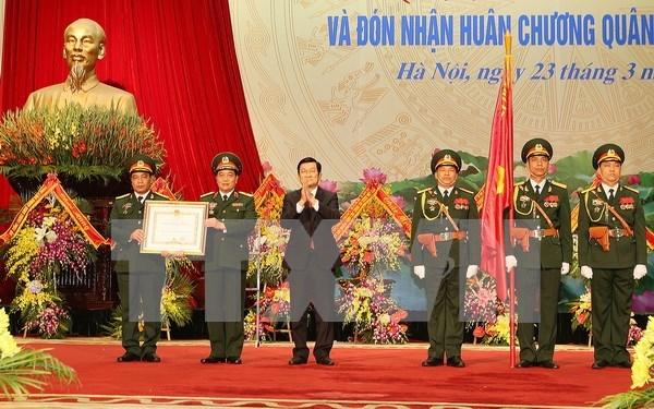 Resalta presidente vietnamita logros de la rama de suministros militares hinh anh 1