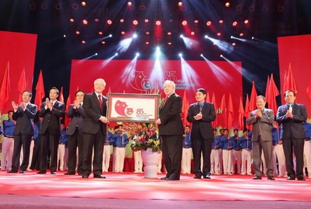 Union de Jovenes Comunistas Ho Chi Minh celebra 85 anos de fundacion hinh anh 1
