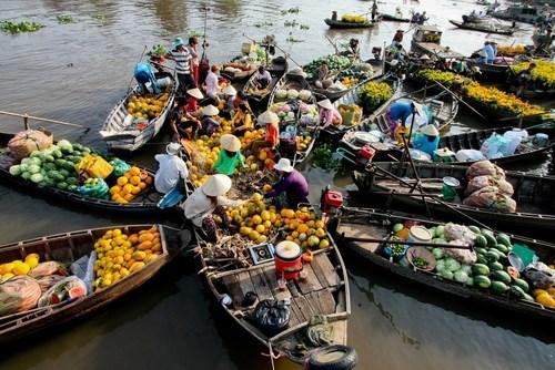 Mercado flotante de Cai Rang, nuevo patrimonio cultural de Vietnam hinh anh 1