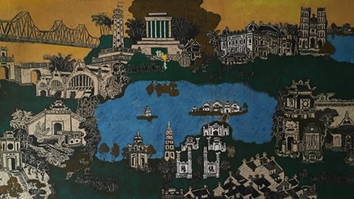 Pinturas de madera tallada deleitan a publico de Hanoi hinh anh 1