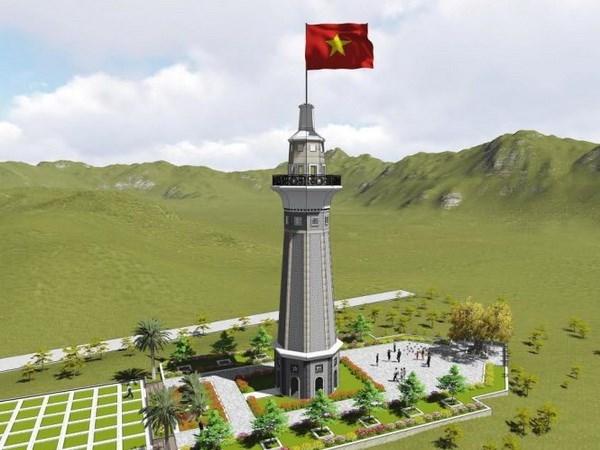 En construccion asta de bandera Lung Po en provincia norvietnamita hinh anh 1