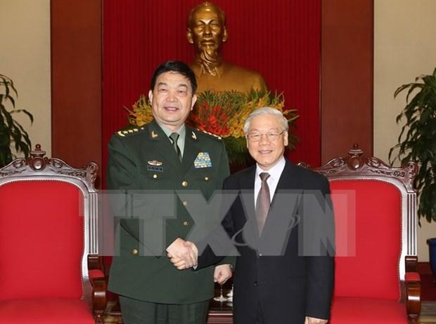 Secretario general del PCV recibe al ministro de Defensa de China hinh anh 1