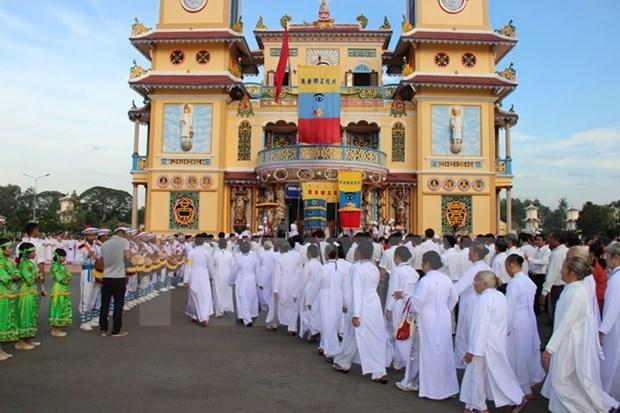 Religion Cao Dai recauda dos millones de dolares para actividades caritativas hinh anh 1