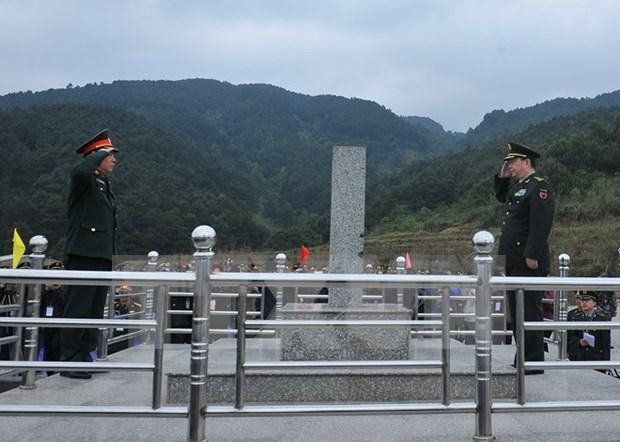 Vietnam y China continuan actividades de intercambio de defensa fronteriza hinh anh 1