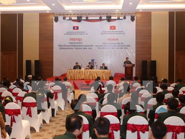 Localidades vietnamita y laosiana cooperan eficientemente en demarcacion fronteriza hinh anh 1