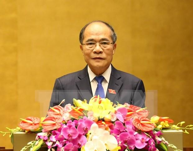 Diputados satisfechos con desempeno del presidente del parlamento hinh anh 1